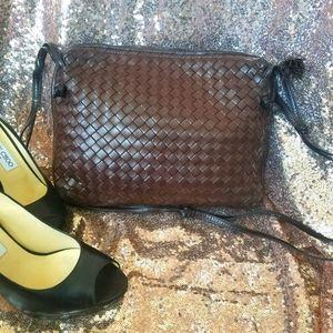 Bottega Veneta buttery soft brown purse